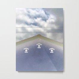 Blue House in Clouds [Cecilia Lee] Metal Print