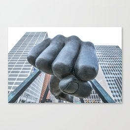 "Monument to Joe Louis - ""The Fist""  Canvas Print"