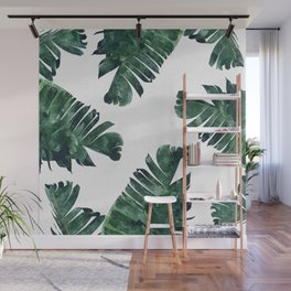 Banana Leaf Watercolor #society6 #buy #decor Wall Mural