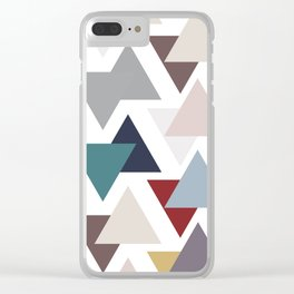 Scatter triangles Clear iPhone Case