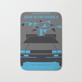 No183 My Back to the Future minimal movie poster-part II Bath Mat