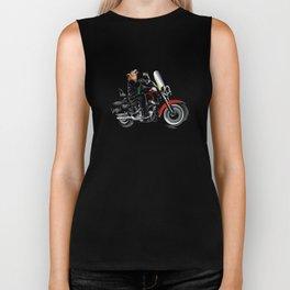 Wolf on the motorcycle Biker Tank