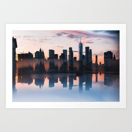 Downtown Reflections Art Print
