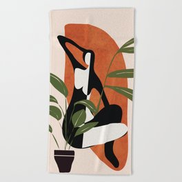 Abstract Female Figure 20 Beach Towel