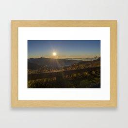 Sunrise on the Blue Ridge  Framed Art Print