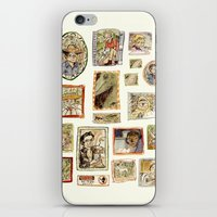 jurassic park iPhone & iPod Skins featuring Jurassic Park Portrait Wall by Beastlyworlds