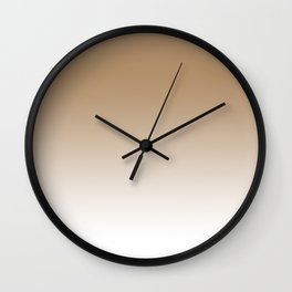 Iced Coffee Ombre Wall Clock
