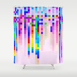 PRIDE COMMISSION: BLUE AND PINK Shower Curtain