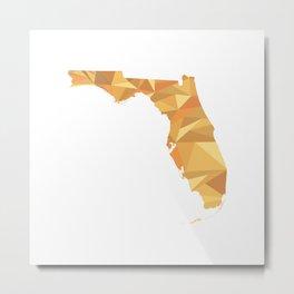 Florida Pattern Map Art Metal Print