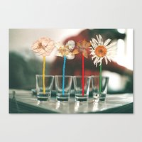 vodka Canvas Prints featuring Vodka Flowers by Paulushaus