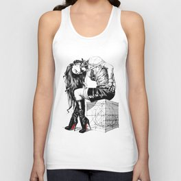 Lady on Cube Unisex Tank Top