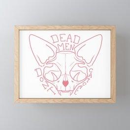Dead Men Don't Catcall - Coral Line Art Framed Mini Art Print