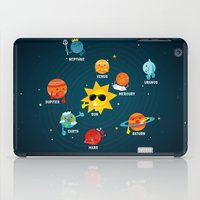 solar system iPad Cases featuring Solar System by Duck Duck Moose