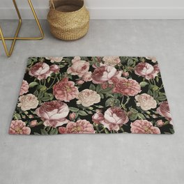 Vintage & Shabby Chic - Lush Victorian Roses Rug