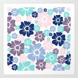 Flowers Purple Art Print