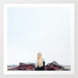 Icelandic Girl (Square) Art Print