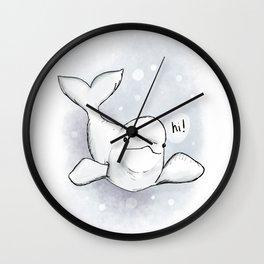 Beluga Greeting Wall Clock