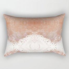 Orange Glitter Rectangular Pillow