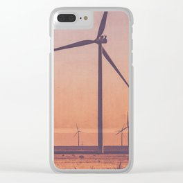 Southwest Windmills Route 66 Clear iPhone Case
