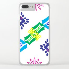 Unchained Abstract Clear iPhone Case