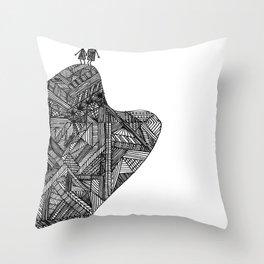 Creatures of the Mountain Throw Pillow
