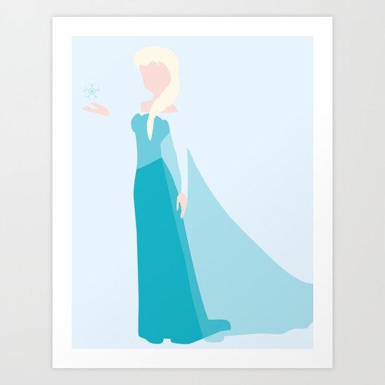 Queen Elsa Art Print