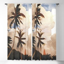 Palm Trees Bahamas Circa 1888 By WinslowHomer | Reproduction Blackout Curtain