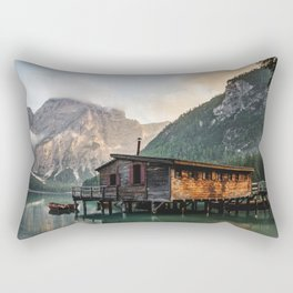 Lago di Braies Rectangular Pillow