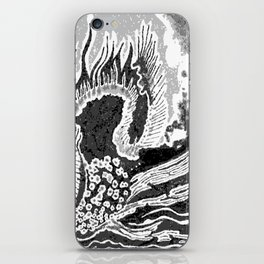 greyscale dragon iPhone Skin