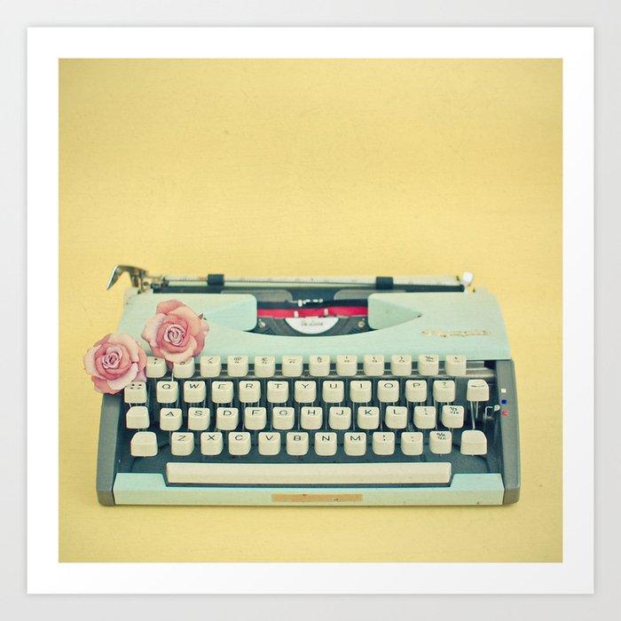 The Typewriter Art Print