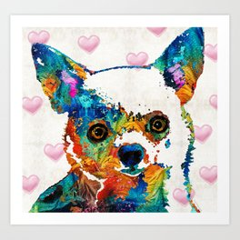 Colorful Chihuahua Art by Sharon Cummings Art Print