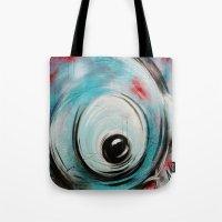bubblegum Tote Bags featuring Bubblegum by Nathalie Lagacé