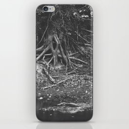 the alligator and the tree  iPhone Skin