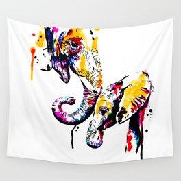 elephant love Wall Tapestry