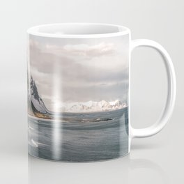 Stokksnes Icelandic Mountain Beach Sunset - Landscape Photography Coffee Mug