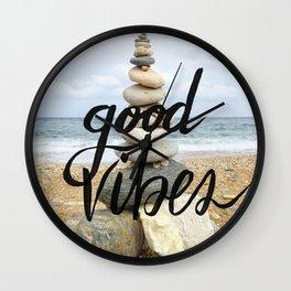 Good Vibes - Rock balancing Wall Clock