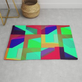 Colorful Truth. Green. Rug