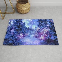 Mystical Snow Winter Forest Rug