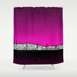 Kenai Mountains Shower Curtain