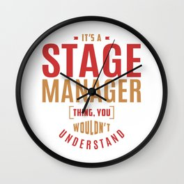 Stage Manager Thing Wall Clock