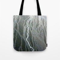 lightning Tote Bags featuring Lightning  by Ethna Gillespie