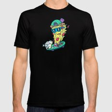 Pizza and Ranch Mens Fitted Tee MEDIUM Black