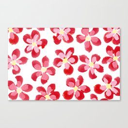 Posey Power - Red Multi Canvas Print