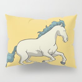 Wild horse in front of the moon Pillow Sham