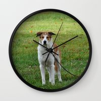 courage Wall Clocks featuring Courage by Kaleena Kollmeier
