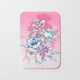 Poppy Bouquet- Pink Bath Mat