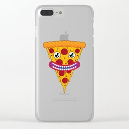 Pizza Face Clear iPhone Case