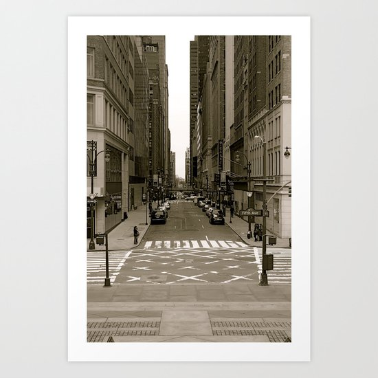 """fifth ave"" Art Print"