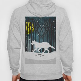 White Wolf at Midnight Hoody