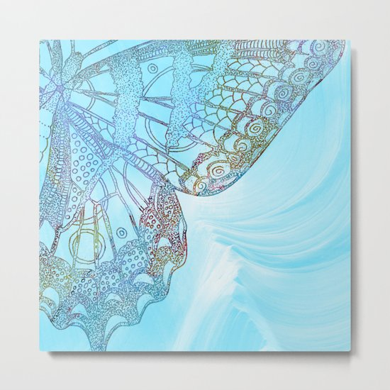 Colorful Abstract Butterfly Design Metal Print
